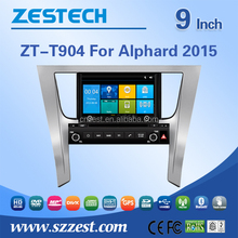 multimedia navigation system for Toyota Alphard 2015 multimedia navigation with Radio,Audio,Bluetooth,RDS,3G,wifi,V-10disc