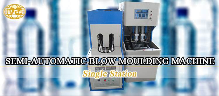 2018 motor driven Semi automatic Single Station pet plastic bottle blowing moulding machine price