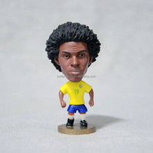 OEM Character Soccer Player Action Figure,Customized Plastic Football Figure Toys,Custom Design Soccer Player Figurine,