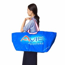 Laminated PP woven recycle bag Durable large size tote shopping bags