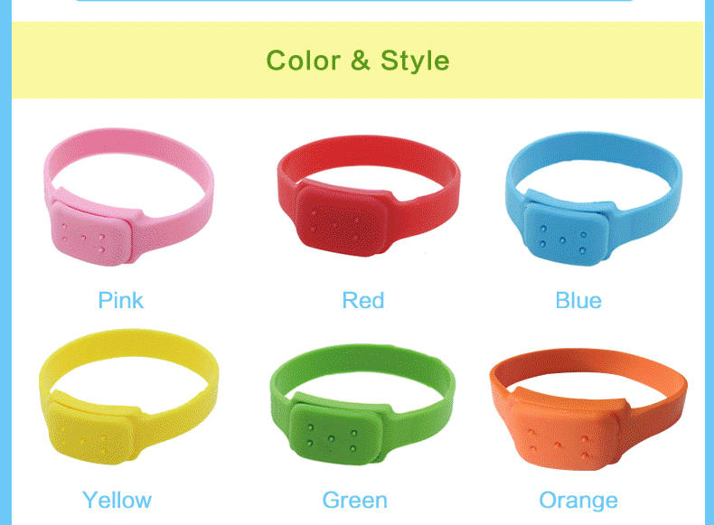 Silicone mosquito repellent bracelet with new technology