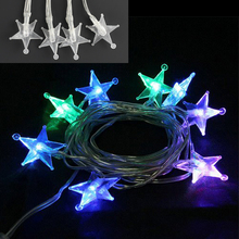 USB Battery operated RGB star LED christmas lights