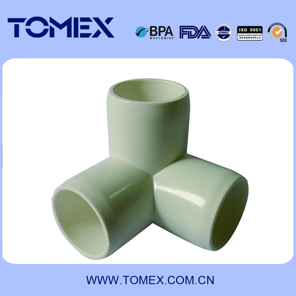 High-quality PVC pipe fittings tee joints with best price