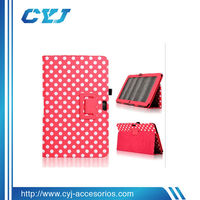 China 11.6 inch tablet case with small polka dots for Samsung XE 500T
