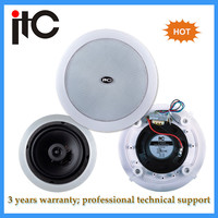 ABS baffle metal grille two way coaxial pa system best ceiling speakers