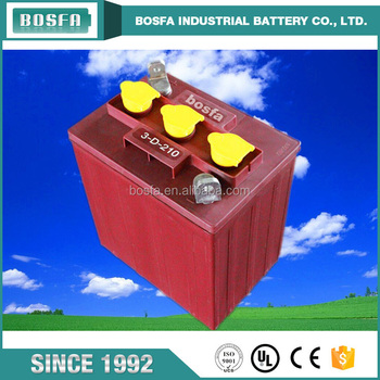 maintenance free sealed lead acid battery 6v 210ah forklift battery for electric vehicles