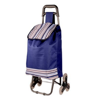 Climb Building Baggage Carts Folding Portable trolley shopping bags with Chair