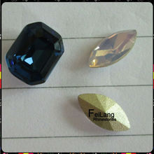 Feilang brand octagon shape pointback crystal for wholesale