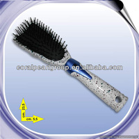 White Marble Tweezer Hair Brush