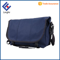 Portable long padded strap leisure shoulder bag anti theft buckle closure mens canvas conference messenger bag