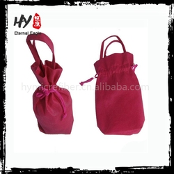 Custom Plush foldable drawstring bag, shopping eco drawstring bag, nonwoven blank drawstring bags