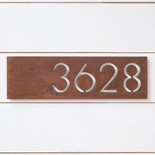 Customized brass etching door plate, door number sign