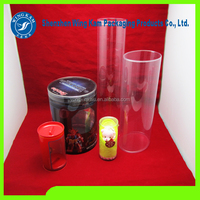 cost-effective glue welt PET/PVC/PP/PS container plastic packed tube for plant