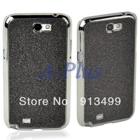 2013 New Fashion Black Glitter Powder Phone Embellished Protector Shell Cover Case For Samsung N7100 12088