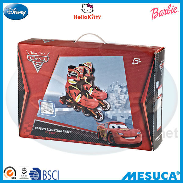Disney Cars Boys Style Adjustable MULTI-FUNCTION INLINE Inline SKATE DCB11062-F