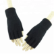 Fashion colorful soft wool winter fingerless gloves custom spandex half finger knitted gloves