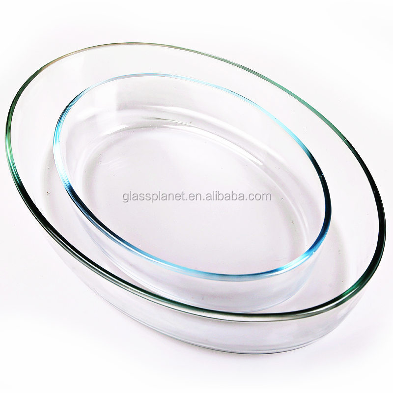 Borosilicate Glass Oval Baking Dish, 30 x 21.2cm