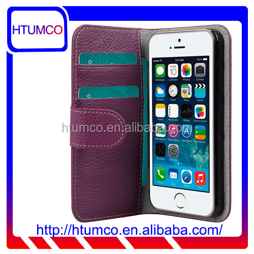 Popular Premium Wallet Leather Phone Case for Apple iPhone 5s / 5