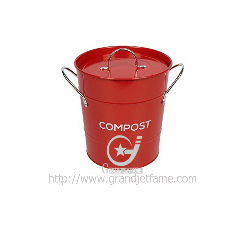 home metal kitchen compost bin iron storage bin