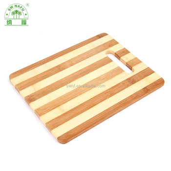 High quality natural bamboo vegetable chopping board with a hole