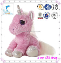 cute pink sitting horse toy for girl gift