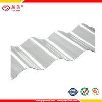 YUEMEI clear polycarbonate corrugated fiberglass roof panels