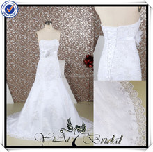 RQ045 White Real Sample Mermaid Wedding Dress Patterns