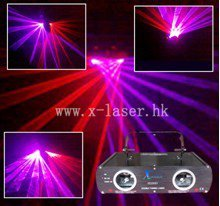 Double tunnel red purple beam club disco disco laser light