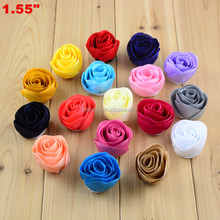 Cheap Artificial Flower heads and fabric flowers -Glitter Silk rose chiffon flowers