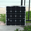 High Efficiency Sunpower Cell Semi Flexible Solar Panel 50W