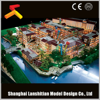 Modern miniature residential building design model for construction & real estate