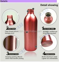 ABL brushed aluminum bottle and bamboo pump gold/silver 60ml 120ml 150ml