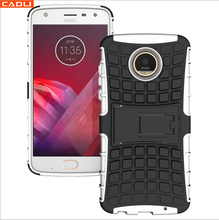 Anti-Shock Hybrid Hard Silicone Rubber Mobile Phone Case For Moto Z2 Play