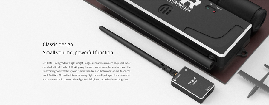 FeiyuTech newest FY-609  60-80km uav plane long range wireless video data transmitter receiver
