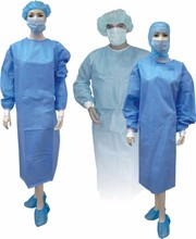 Custom green or white sterile sms disposable surgical gown for hospital