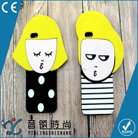 cheap OEM fashion design 3D cartoon boy and girl soft silicone phone case For iphone 5 6 6plus with high-quality