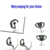 [ES1222] Two Way Radio Ear hook earphone with Inline PTT button mic for Kenwood Wouxun Motorola Icom Yaesu Vertex walkie talkie