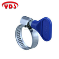 Stainless steel hose clamps with POM handle for DIY greenhouse garden and home appliance without any tools