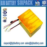 Customized Rechargeable Lithium Battery, 38.4V 3.2Ah, 12S1P, for electric motorcycle