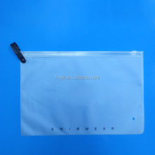 bikini packaging custom printed plastic frosted EVA swimsuit bag