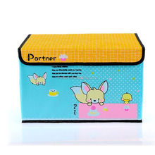 paper board Colorful storage box with lid for Kids