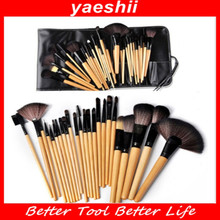 YAESHII 2016 Beauty 24pcs Human Hair Wooden Makeup <strong>Brush</strong>