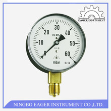 Stainless Steel manometer -Differential Pressure Gauge-double bourdon tubepressure gauge