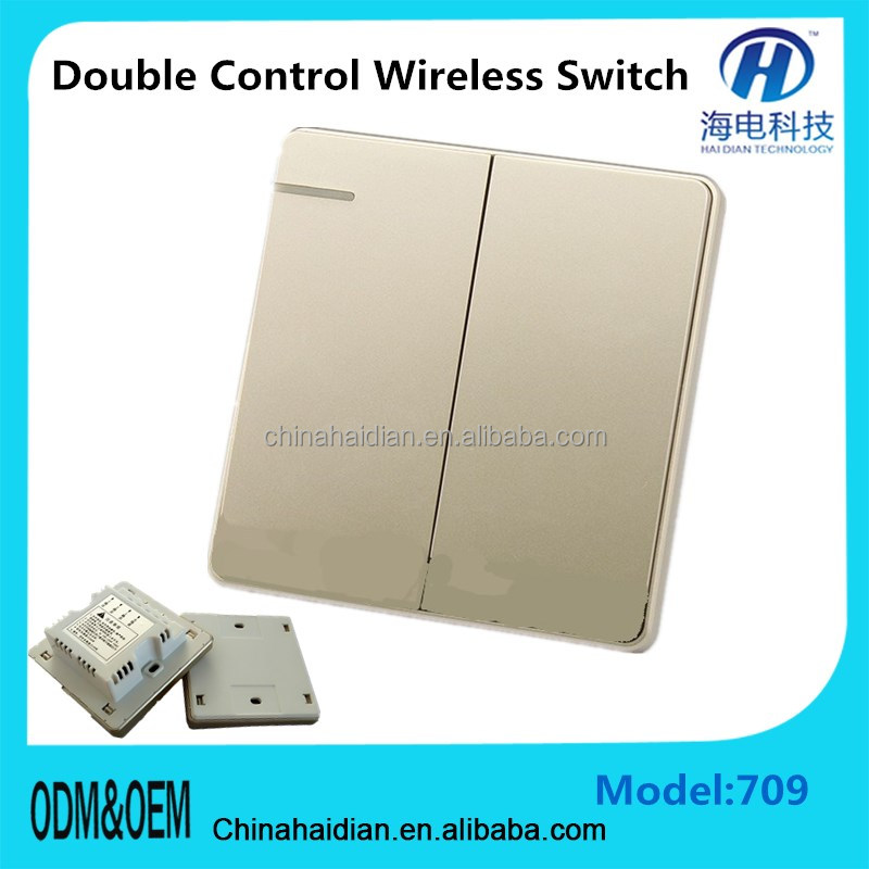 2 gang 1 way China Hilti Wall Switch Manufacturer US/UK/EU Touch Switch Smart Home Crystal Touch Screen