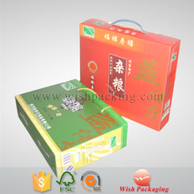 Customized with own logo High ECT handle food package box corrugated carton