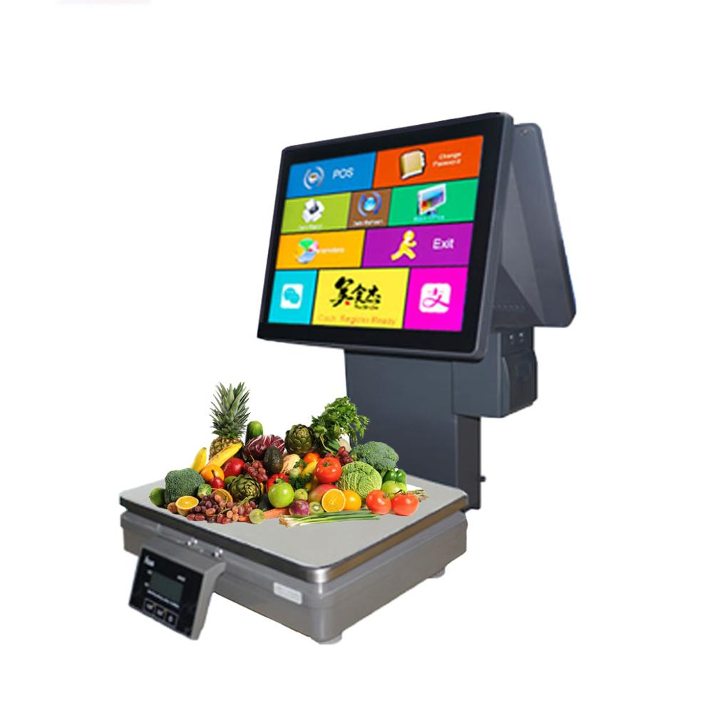 New price computing <strong>scale</strong> 15kg calibration electronic <strong>scale</strong> with pos touch screen for fruit shops
