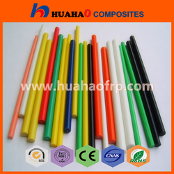 Hot Selling Rich Color UV Resistant hollow solid fiberglass rod with low price hollow solid fiberglass rod
