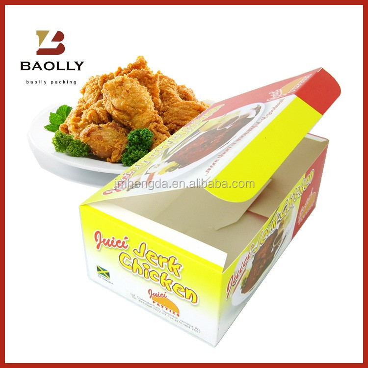 Top quality useful recyclable custom food grade fast food paper packaging