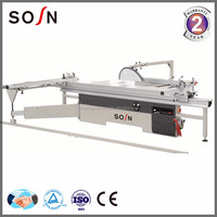 high precision wood cutting sliding table saw machine with electric lifting in future