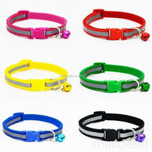personalized custom logo pet collars secure dog collars with bell